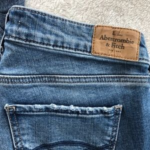 Abercrombie and Fitch Distress Ripped Skinny Jeans